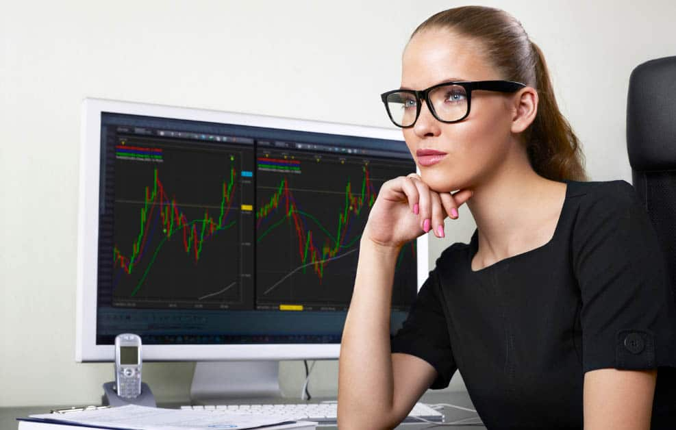 Woman Trading Options